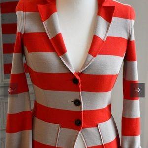 Marc Cain stretch stripe jacket CASHMERE BLEND